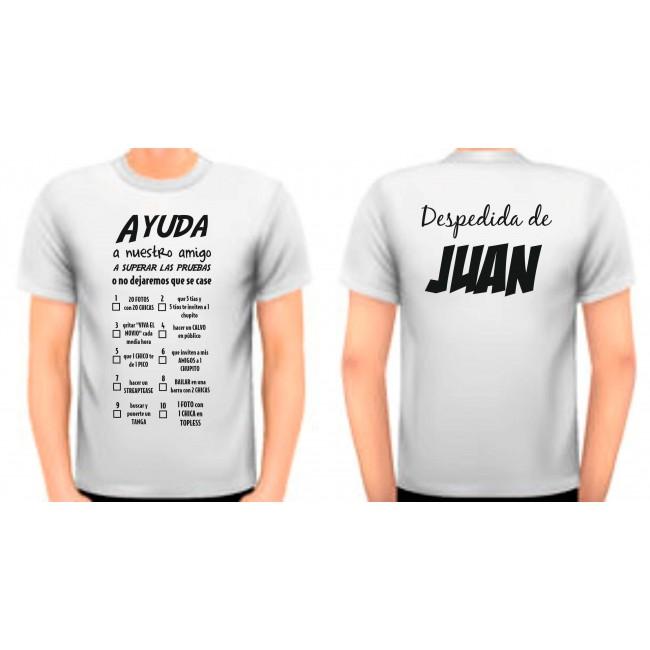 Camiseta despedidas pruebas