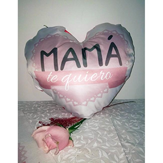 Cojín corazón te quiero mamá