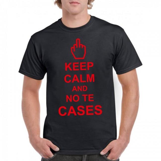 Camiseta keep calm and no te cases