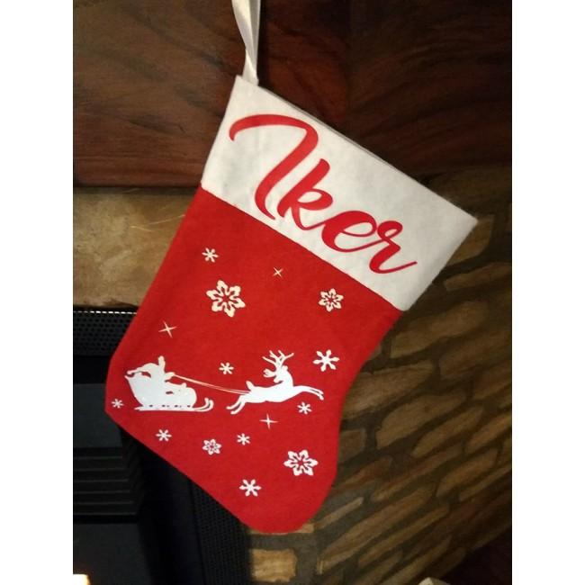 Calcetín personalizado navidad
